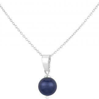 ARLIZI Ketting parel hanger blauw - sterling zilver - 1524