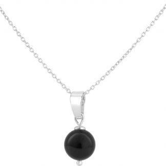 ARLIZI Ketting parel hanger zwart - zilver - 1040
