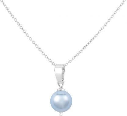 ARLIZI ketting parel hanger lichtblauw - sterling zilver - 1528