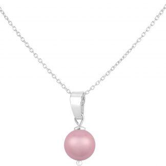 ARLIZI ketting parel hanger roze - sterling zilver - 1526