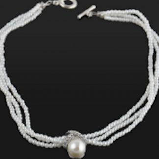 Charme Bijoux®Bruids parelketting -40 cm - 1 cm-