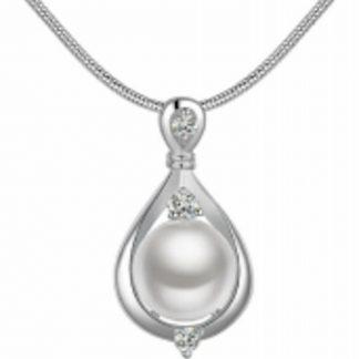 Charme Bijoux®Parel ketting- Verguld - Parel 1 cm-