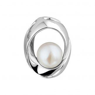 The Jewelry Collection Hanger Parel - Zilver Gerhodineerd