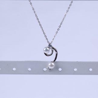 Zilver ketting met zoetwaterparel