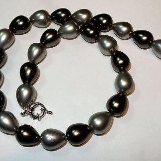 zwart grijze parel collier