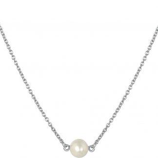 Lucardi - Zilveren ketting met hanger parel