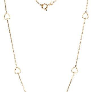 Majestine hart collier 18 karaat - hart ketting - 18 karaat (750) geelgoud - 42 cm