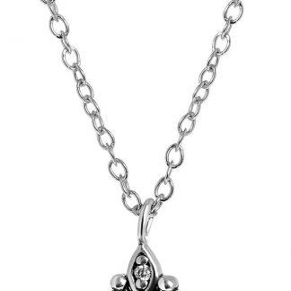 Lucardi - Zilveren ketting&hanger met parel & zirkonia