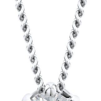 Majestine gouden diamant ketting - collier uit 18 karaat (750) witgoud met briljant geslepen diamant