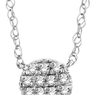 Majestine gouden diamant ketting - collier uit 18 karaat (750) witgoud met briljant geslepen diamanten