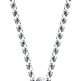 Majestine ketting 14 karaat 585 witgoud met Diamant 0.07ct zetting 4 griffen - collier 45cm
