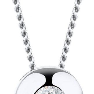 Majestine ketting 14 karaat 585 witgoud met Diamant 0.08ct- 45cm