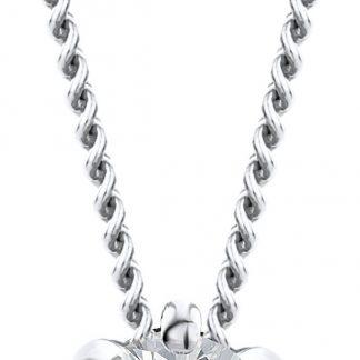 Majestine ketting 14 karaat 585 witgoud met Diamant 0.08ct zetting 6 griffen - collier 45cm