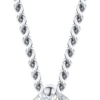 Majestine ketting 18 karaat 750 witgoud met Diamant 0.07ct zetting 4 griffen - collier 45cm