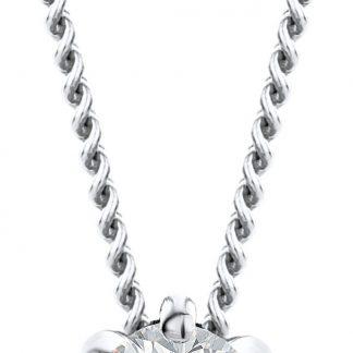 Majestine ketting 18 karaat 750 witgoud met Diamant 0.08ct zetting 6 griffen - collier 45cm