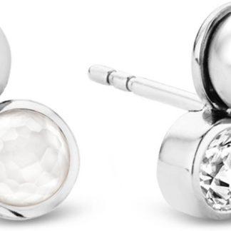 TI SENTO - Milano Oorbellen 7780PW - gerhodineerd zilver