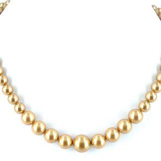 KAYEE - Parelketting van Swarovski parels - goudkleurig - 45cm