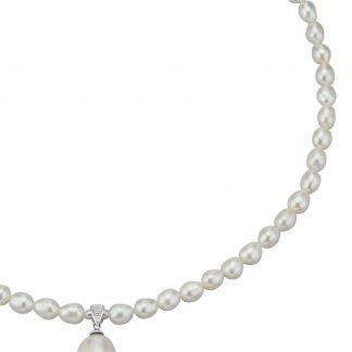 Collier Diemer Perle wit