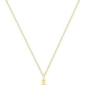 Lucardi - 9 Karaat ketting met hanger knoop met parel