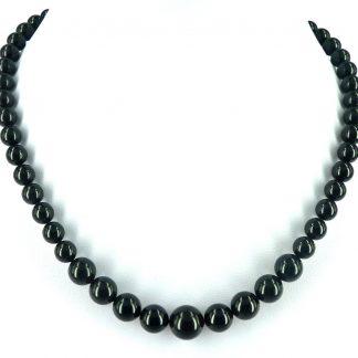 KAYEE - Parelketting van Swarovski parels - zwart - 45cm