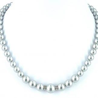Parelketting Zilverkleurig van Swarovski parels