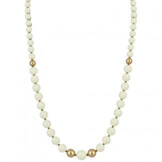 KAYEE - Parelketting van Swarovski parels - ivoorkleurig - 45cm