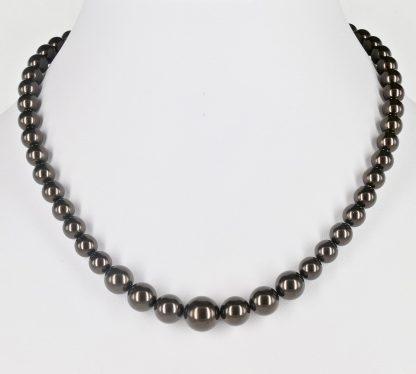 KAYEE - Parelketting van Swarovski parels - donkerbruin - 45cm