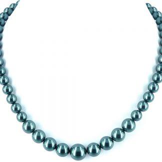 KAYEE - Parelketting van Swarovski parels - zeegroen - 45cm