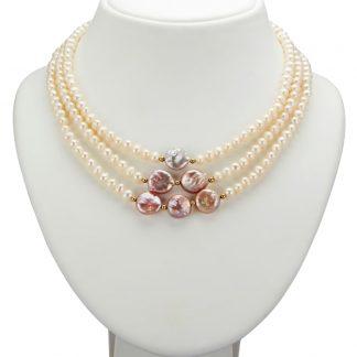 Collier Diemer Perle Multicolor