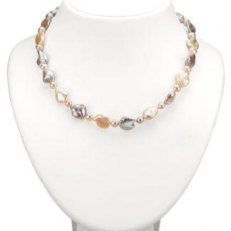 Oorstekers met Keshi-parels Diemer Perle Multicolor
