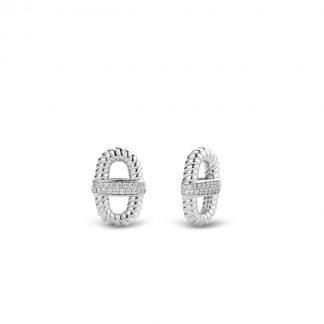 TI SENTO - Milano Oorbedels 9196ZI - gerhodineerd zilver