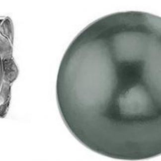 Silventi 921144206 Zilveren Parel Oorknop - 6mm - Parel - Groen - Zilver - Zilverkleurig