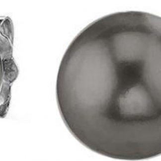 Silventi 921144213 Zilveren Parel Oorknop - 7mm - Parel - Grijs - Zilver - Zilverkleurig