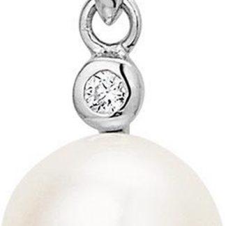 The Jewelry Collection Hanger Parel En Zirkonia - Zilver