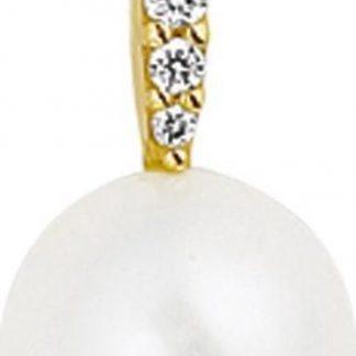The Jewelry Collection Hanger Parel En Diamant 0.05ct H Si - Goud